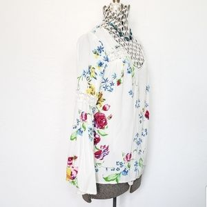 Modcloth Bell Sleeve Floral Tunic